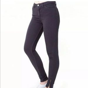 AMERICAN APPAREL High Waist Skinny Jeans